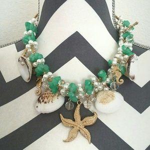 Sea theme, pearl necklace
